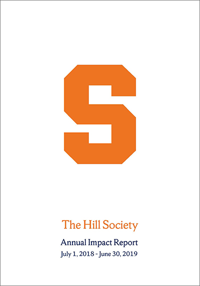 The Hill Society 2019 Impact Report cover displayed in a new window