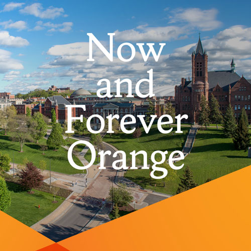 Now and Forever Orange banner